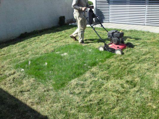 strojno zračenje trave
